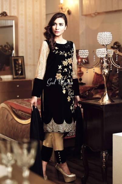 Three Piece Ready To Wear Formal Dresses Gul Warun 2016 13