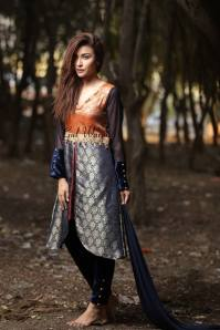 Three Piece Ready To Wear Formal Dresses Gul Warun 2016 2