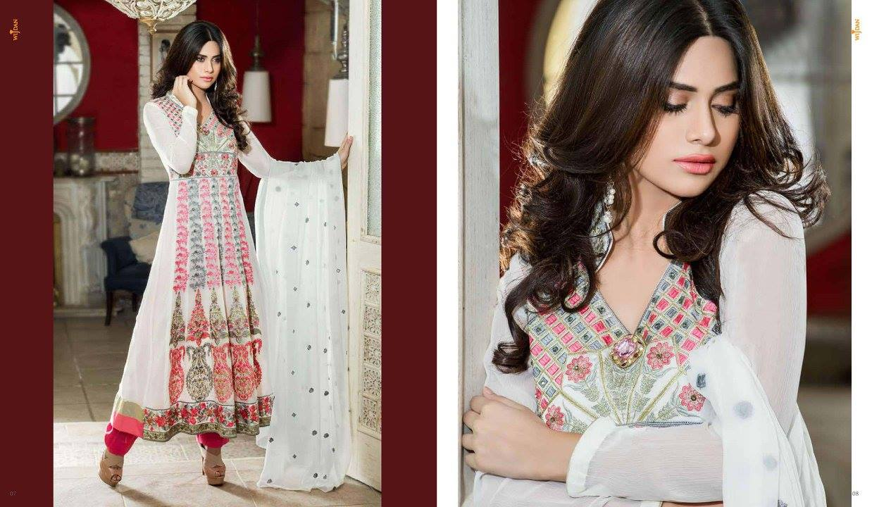 cd4328567d Check all the designs in Wijdan Chiffon Spring Collection pix gallery and  look at the new designs by the Salam Textiles brand in the spring luxury  wearing.