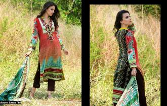 Anum Printed Lawn Dresses Al Zohaib Collection 2016 9