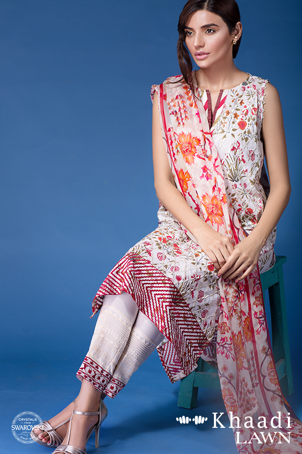 Khaadi Lawn Geo Graphic Summer Collection 2016
