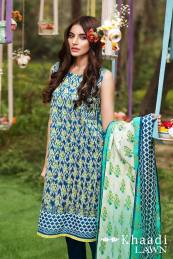 Khaadi Lawn Geometric Fusion Summer Collection 2016 10