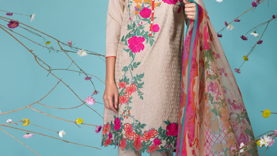 Khaadi Lawn Sun Bleached Neutrals Summer Collection 2016