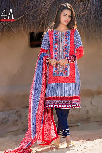 Libas Embroidered Lawn Shariq Textiles Collection 2016 3