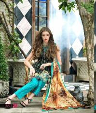 Mahnoor Embroidered Spring Summer Lawn Al Zohaib 2016 3