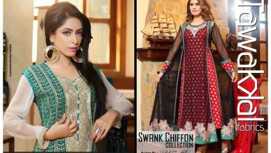Swank Chiffon Tawakkal Fabrics Summer Collection 2016