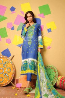 Classic Crinkle Lawn Casual Shalwar kameez Dresses 2016 6