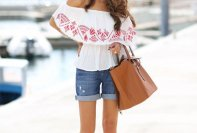 Off The Shoulder Summer Tops Women Casual Wear