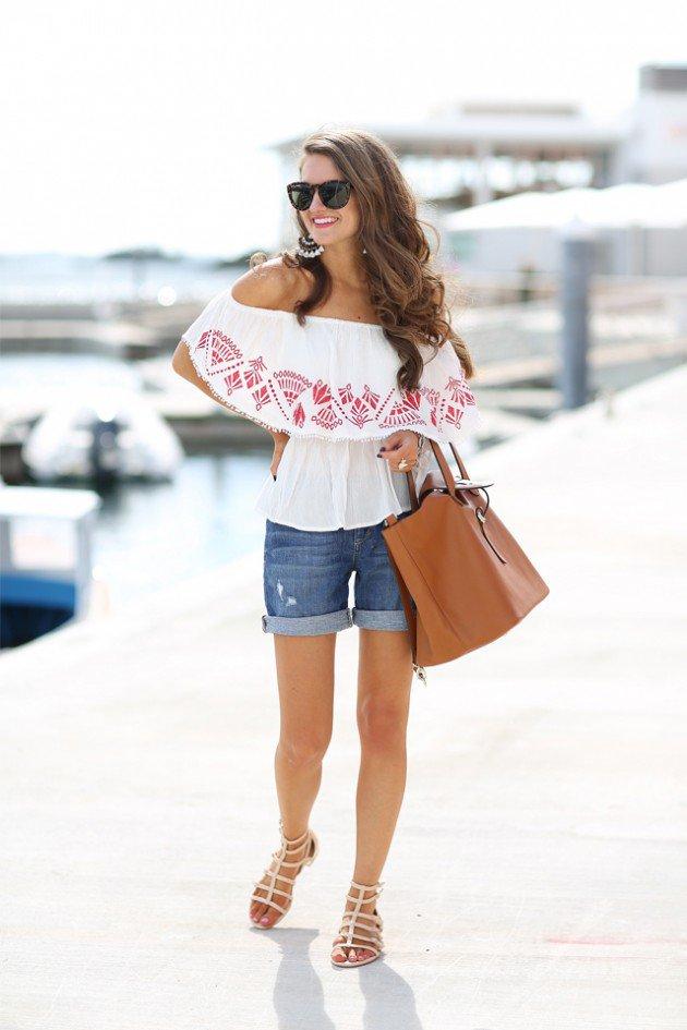 Off The Shoulder Summer Tops Women Casual Wear