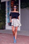 Off The Shoulder Summer Tops Women Casual Wear 15