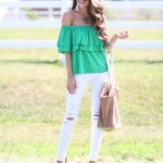 Off The Shoulder Summer Tops Women Casual Wear 5
