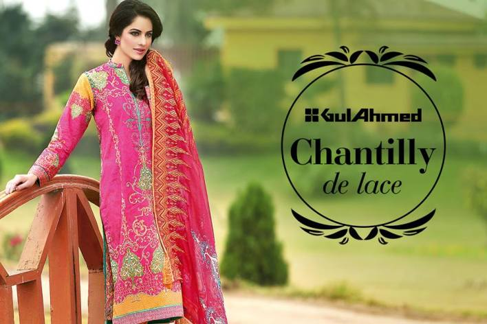Gul Ahmed Chantilly De Lace Summer Vol 2 2016