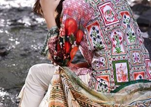 Gulzar Embroidered Fancy Lawn By Ivy Prints 2016