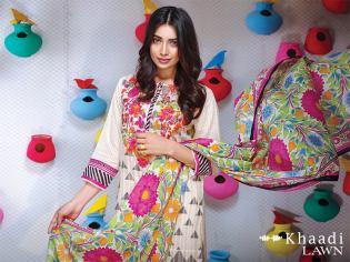 Khaadi Lawn Colorful Geometrics Collection 2016