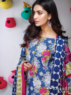 Khaadi Lawn Colorful Geometrics Collection