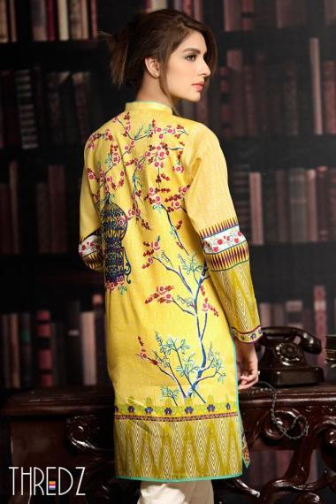 Printed Embroidered Stitched Kurtis By Threadz 2016 3