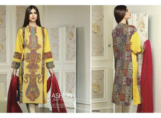 Swiss Lawn Party Wear Dresses Nation By Riaz Arts 2016 5