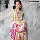 Three Piece Embroidered Lawn Gul Ahmed Collection 2016 8