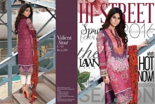 Limelight Unstitched Lawn Dresses For Summer 2016 5