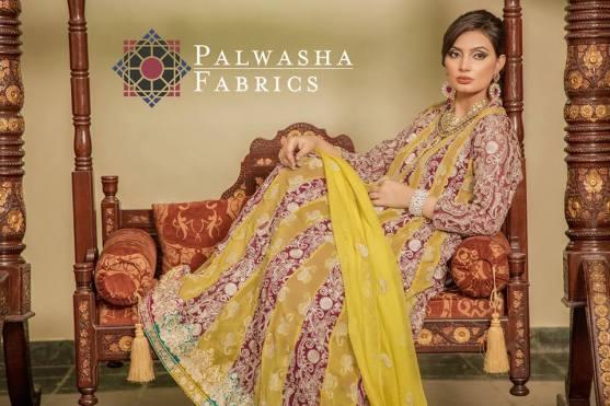 Palwasha Fabrics Eid Dresses Evening Wear 2016 13