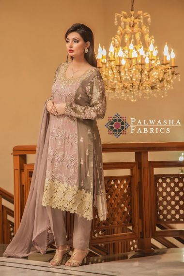 Palwasha Fabrics Eid Dresses Evening Wear 2016 7