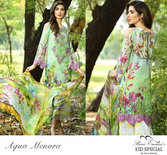 Rani Emaan Eid Special Lawn By Sara Textiles 2016