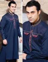 Rivaj Fabrics Men Semi Stitched Eid Collection 2016 5