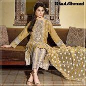 Embroidered Chiffon Pret Eid Dresses Gul Ahmed 2016 10