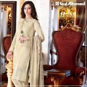 Embroidered Chiffon Pret Eid Dresses Gul Ahmed 2016 11