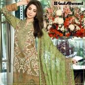 Embroidered Chiffon Pret Eid Dresses Gul Ahmed 2016 13