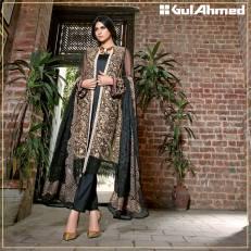 Embroidered Chiffon Pret Eid Dresses Gul Ahmed 2016 7