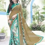 Semi Georgette Indian Saree Designs For Autumn Season