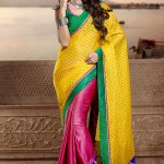 Semi Georgette Indian Saree Designs For Autumn Season 3