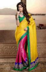 Semi Georgette Indian Saree Designs For Autumn Season 3