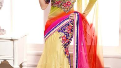 Semi Georgette Indian Saree