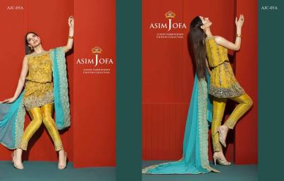 Asim Jofa Luxury Embroidered Chiffon Dresses 2016-17 11