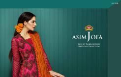 Asim Jofa Luxury Embroidered Chiffon Dresses 2016-17 12