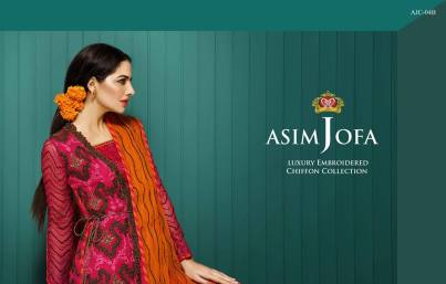 Asim Jofa Luxury Embroidered Chiffon Dresses 2016-17 12