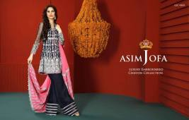 Asim Jofa Luxury Embroidered Chiffon Dresses 2016-17 4