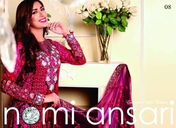 Nomi Ansari Embroidered Chiffon Collection By Shariq 2016-17 3