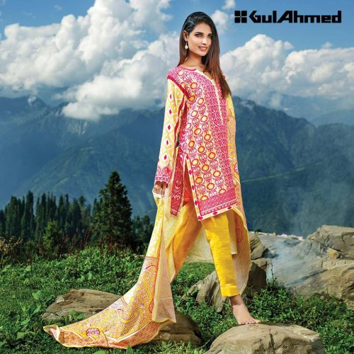 Winter Khaddar Dresses Gul Ahmed Collection 2016-17