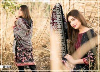 Winter Velvet Dresses Shalwar Kameez By Eshaeman 2017 3
