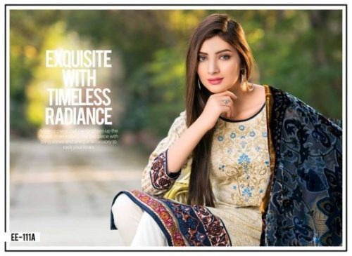 Winter Velvet Dresses Shalwar Kameez By Eshaeman 2017 4