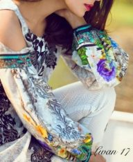 Asifa and Nabeel Summer Modern Formal Lawn Dresses 2017 2