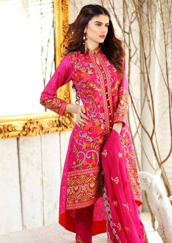 Zara Batool Luxury Embroidered Lawn Summer Dresses 2017
