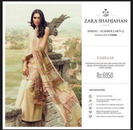 Zara Shahjahan Summer Lawn Dresses Collection 2017 2