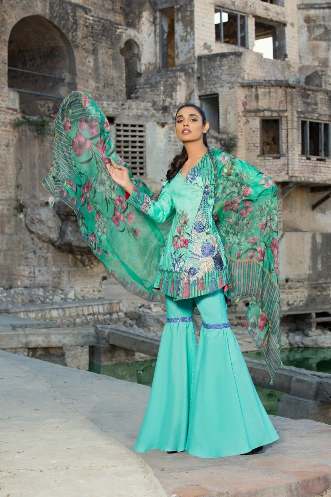 Ivy Gulzar Casual Eid Lawn Shalwar Kameez Collection 2017