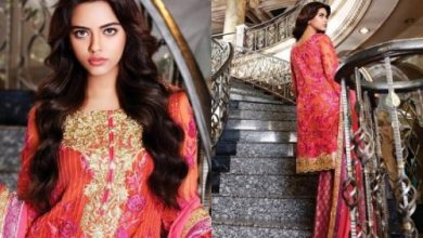 Nomi Ansari Chiffon Eid Dresses Luxury Collection 2017