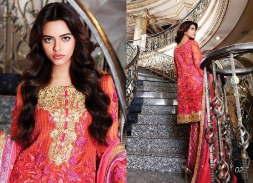 Nomi Ansari Chiffon Eid Dresses Luxury Collection 2017