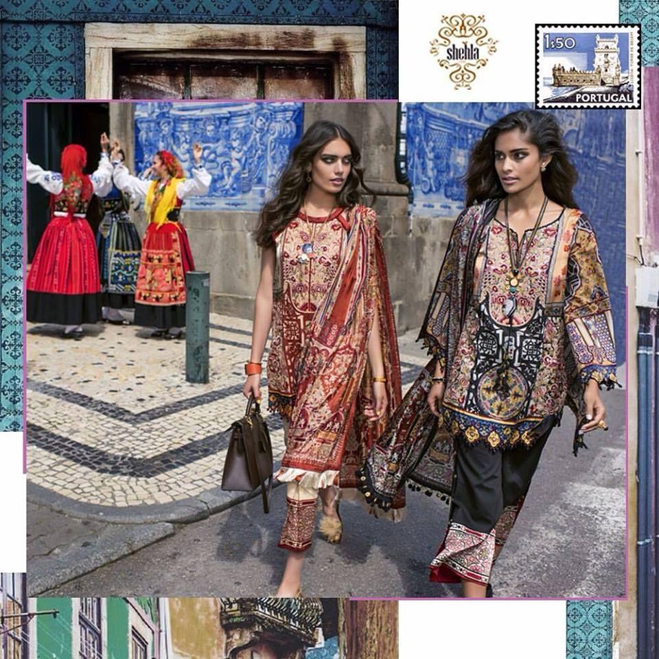 Shehla Chatoor Summer Luxury Lawn Shariq Textiles 2017